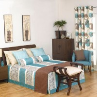 Flame Retardant Patterned Bedspread