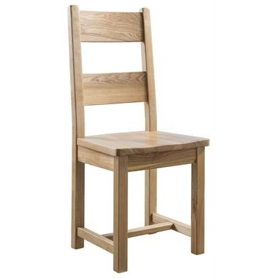 Oak Slat Back Polished Chair